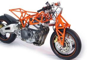 Motor dengan Trellis Chasis