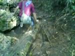 Medan penuh karang tajam, tunggak, akar, lumpur, dan super licin!!