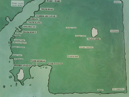 Peta Pulau Sempu yang saya potret di pos penjagaan